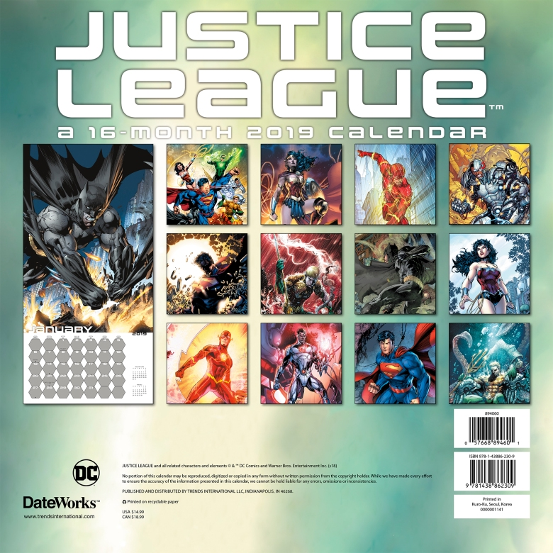 894060 The Justice League Classic Wall BC