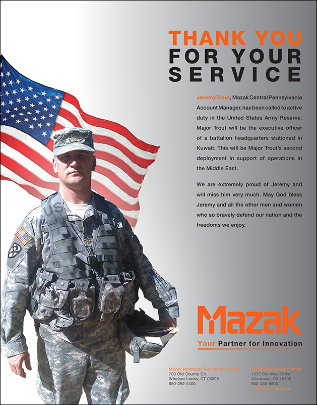 Mazak-military ad